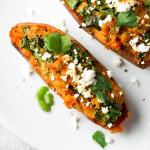 Healthy Twice Baked Sweet Potatoes