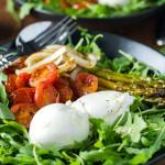 Roasted Vegetable Burrata Salad