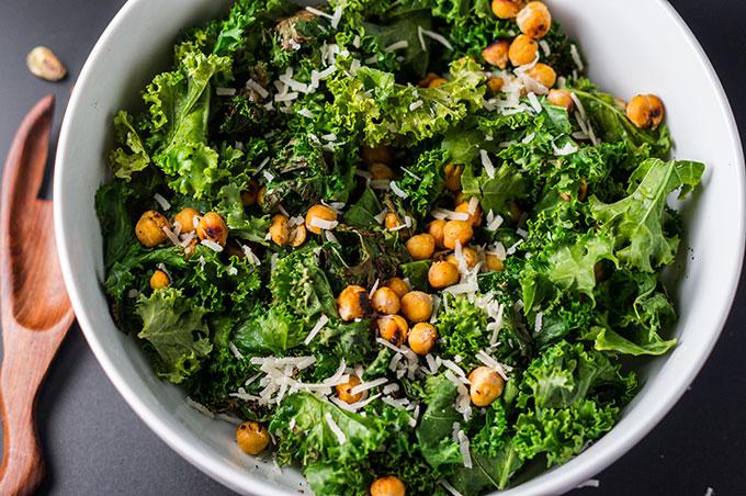 Charred Kale Caesar Salad