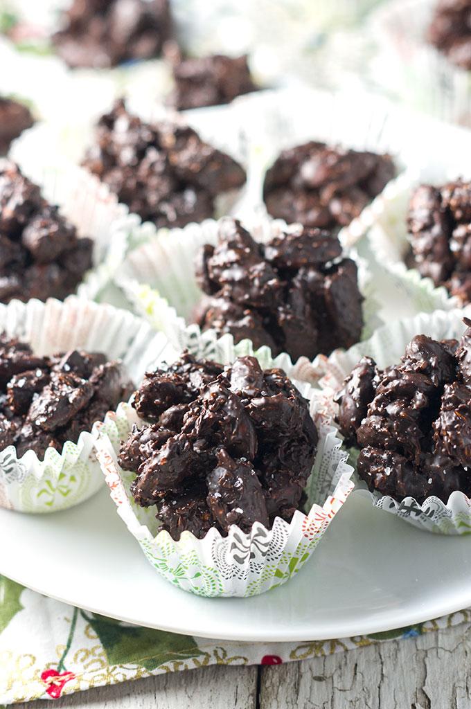Dark Chocolate Coconut Almond Clusters