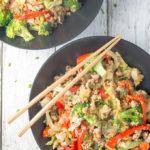 Cauliflower Rice Stir-fry with Ground Pork
