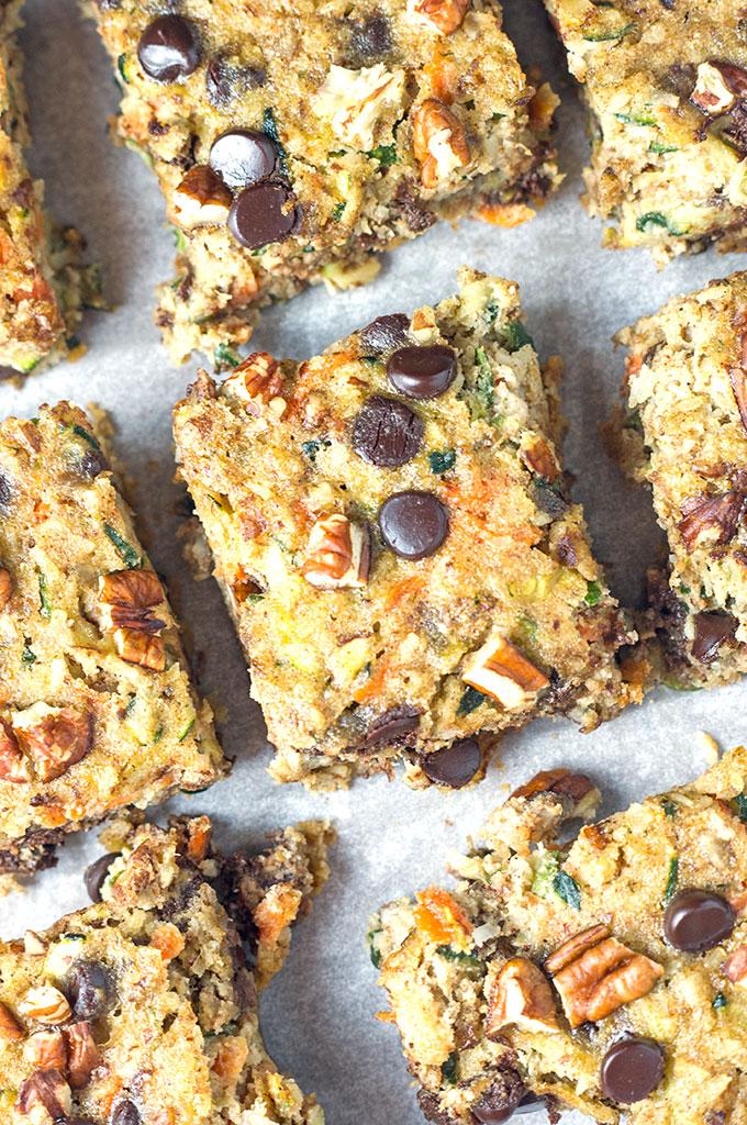 Paleo Chocolate Chip Zucchini Squares