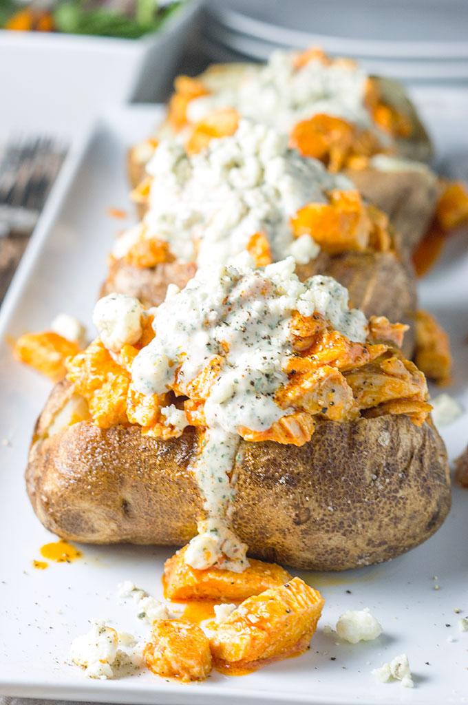 Buffalo Chicken Loaded Baked Potato