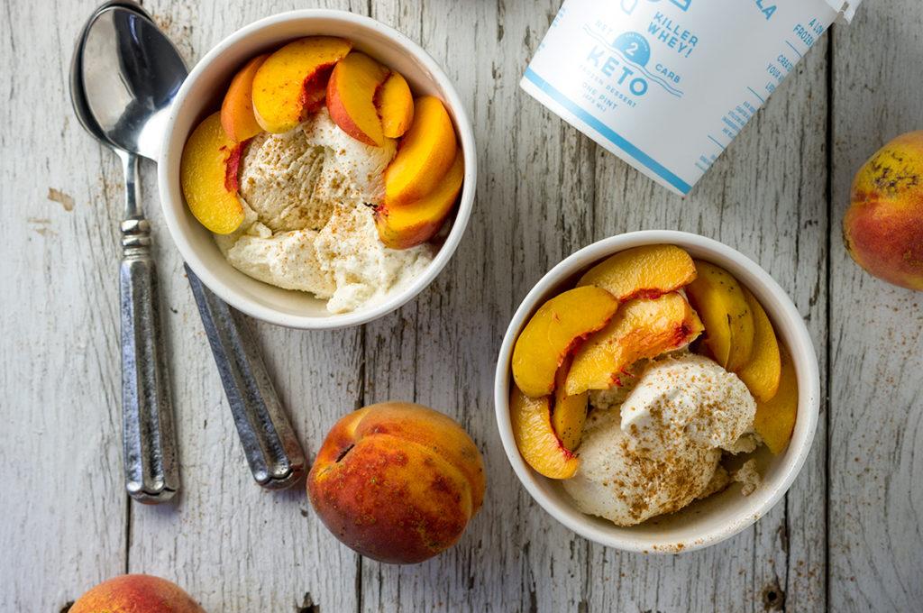 Peaches and Cream - Killer Whey! Keto Ice Cream