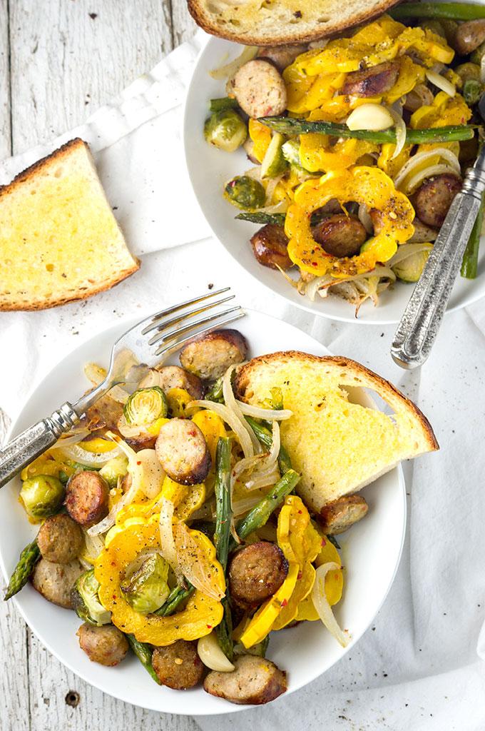 Easy Sausage Delicata Sheet Pan Meal