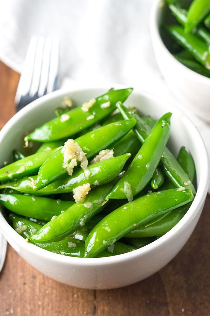 Garlic Sugar Snap Peas