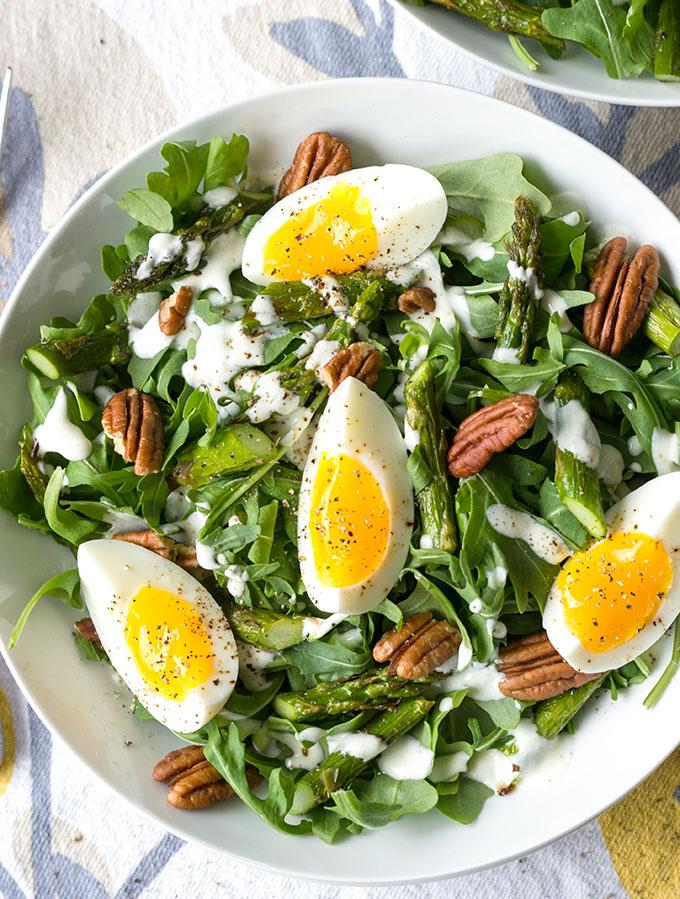 Charred Asparagus, Arugula, and Egg Salad