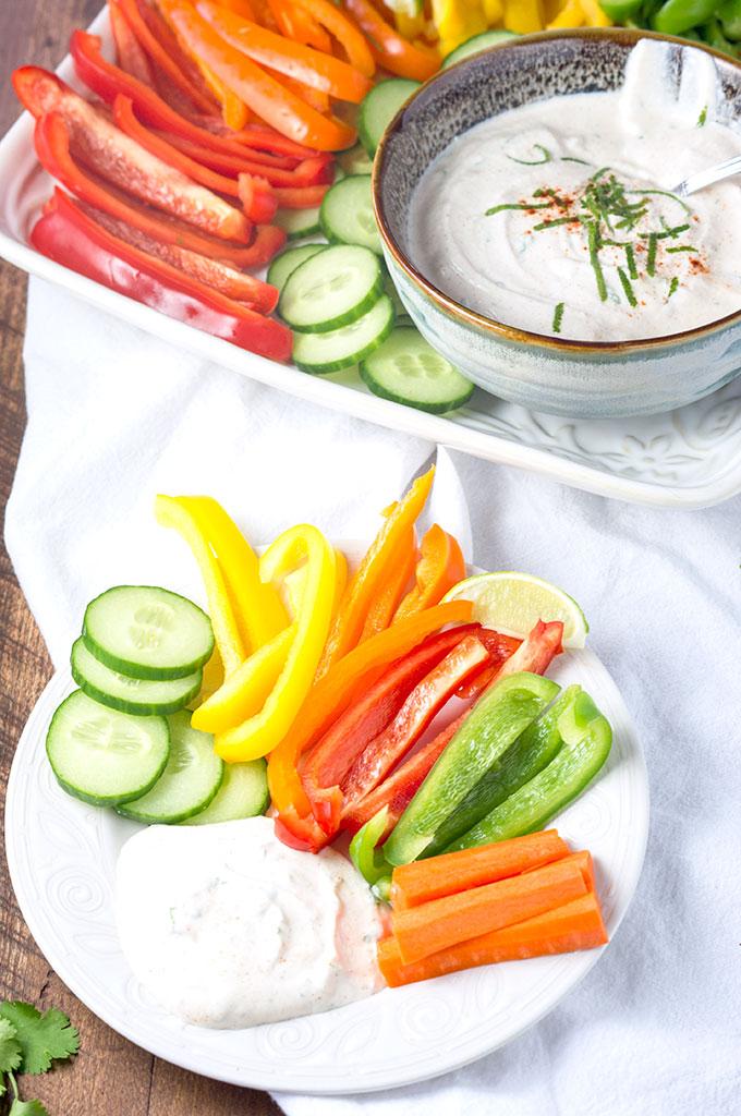 Garlic Chili Lime Greek Yogurt Dip